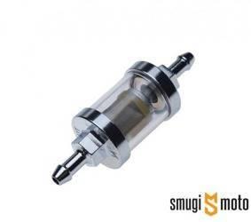 Filtr paliwa WM, metalowy, chromowany 6,5mm