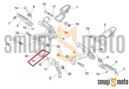 Tuleja zewnętrzna napinacza łańcucha napędowego, Aprilia AF1 Futura 125, RS 125 '90-10