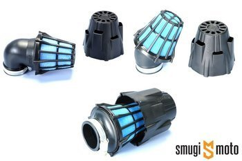 Filtr powietrza Polini Air Box, czarny, d.37mm (różne kąty)