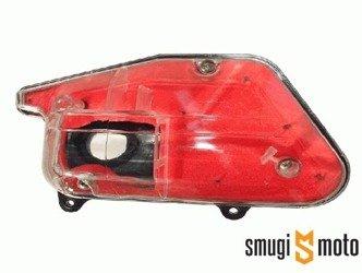 Filtr powietrza kompletny, przezroczysta obudowa, czerwona gąbka, Minarelli stojące