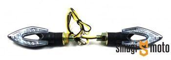 Kierunkowskazy Moretti LED - krótkie, strzałka z dziurką (2 szt.)