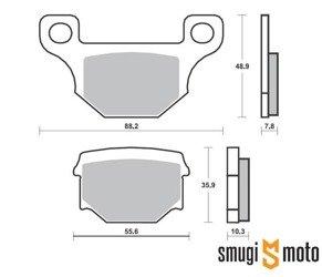 Klocki hamulcowe skuterowe SBS S35 Street Ceramic