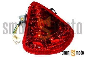 Lampa, czerwony klosz, Aprilia RS 50 06-10 / Derbi GPR 50-125 04-08, GP1 50-250 05-09 (E)