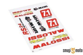 Naklejki Malossi, zestaw duży (250x340mm)