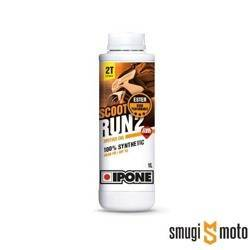 Olej Ipone Scoot Run 2 2T, 1 litr (100% syntetyk) (różne zapachy)