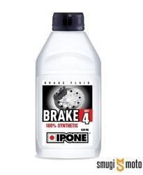 Płyn hamulcowy Ipone DOT 4, zgodny również z DOT 3 (100% syntetyk) 500ml