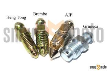 Śruba odpowietrzająca - odpowietrznik zacisku (różne marki)