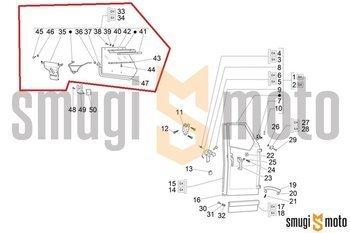 Szyba boczna, kompletna, Piaggio APE 50 '09- (prawa / lewa)