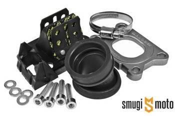 Zawór z króćcem Malossi X360, 28mm przelot / 35mm wyjście, Derbi / Minarelli AM