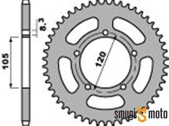 Zębatka tylna PBR [420], Aprilia RX '98-05 / MX SM 50 03-06, Yamaha DT SM 50 '02, Generic Trigger (różne rozmiary)