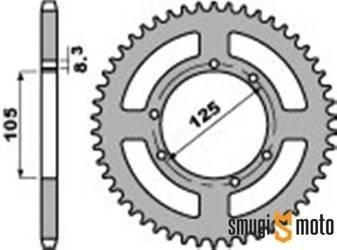 Zębatka tylna PBR [428] HM CRE 50 '01-, Yamaha XT 125 '05-09 (105mm / 125mm) (różne rozmiary)