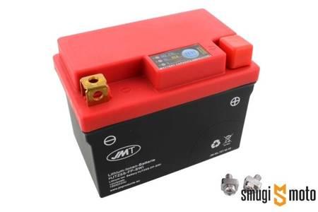 Akumulator JMT HJTZ5S-FP 114X71X106  (np. NSR 125, KTM EXC 300) litowo-jonowy (odpowiednik YTX5L-BS)