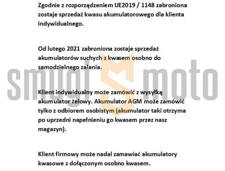 Akumulator żelowy Landport, GT12B-4 12V 11AH 151X70X130 bezobsługowy (zalany)