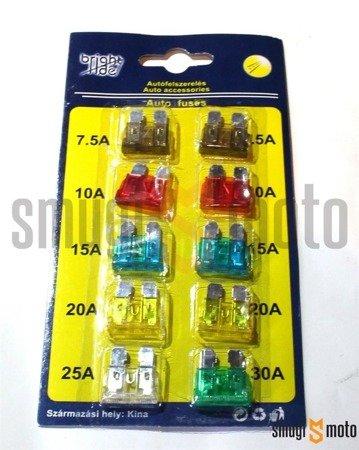 Bezpieczniki samochodowe MIDI, zestaw 10 szt.