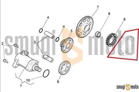 Bieżnia zewnętrzna łożyska jednokierunkowego, Aprilia RXV / SXV 450/550 '06-11