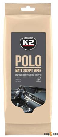 Chusteczki do kokpitu K2 Polo Matt Wipes - matowe