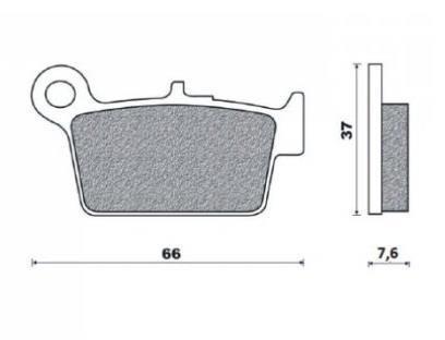 Klocki hamulcowe Brenta M02 (np. Beta RR 50-525 05-, Beta Alp)