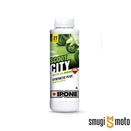 Olej Ipone Scoot City 2T, truskawka, 1 litr (półsyntetyk)