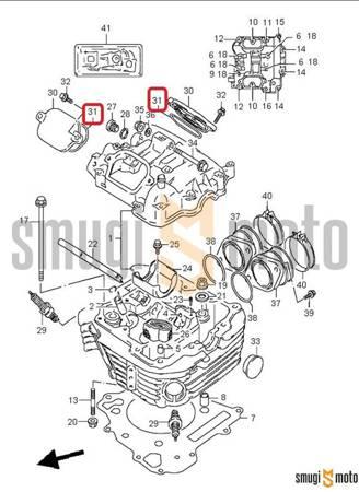 Uszczelka / o-ring pokrywy zaworowej, Suzuki DR 650 - 800 / XF 650 Freewind
