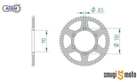 Zębatka tylna AFAM [420] 62z, CPI SM 50 (110mm / 130mm)